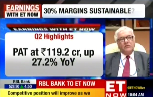 Interview of C&MD on Financial Results – Q2-FY18