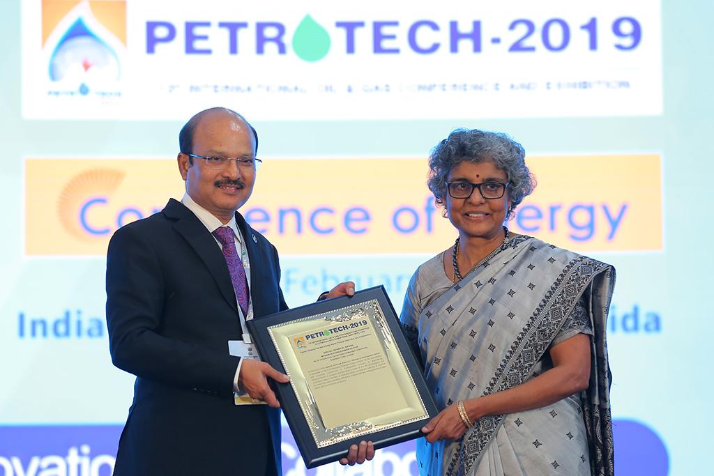 PETROTECH 2019 Women Hydrocarbon Sector R Priyamvada GGM