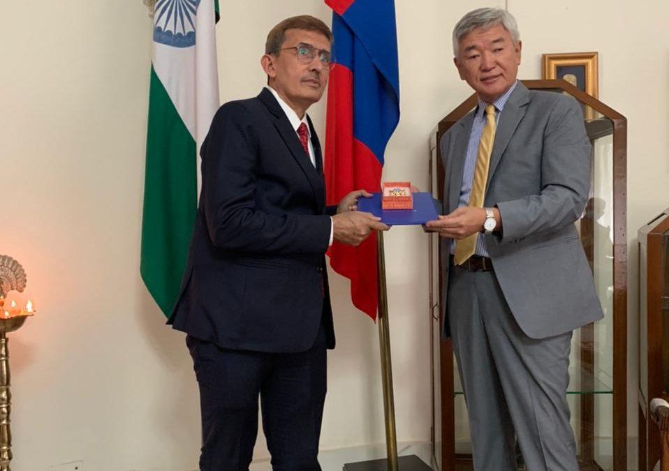 "Shri RK Sabharwal, C&MD, EIL awarded with the highest civilian award of Mongolia ""The Order of Polar Star"""